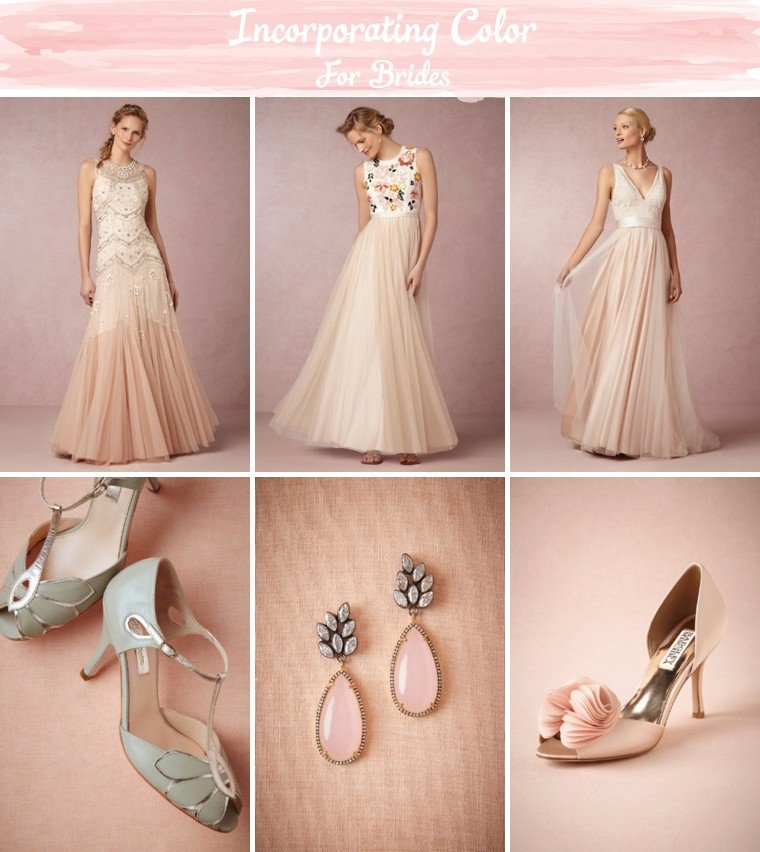 Incorporating Subtle Pops of Color Into Your Wedding Day Look via TheELD.com