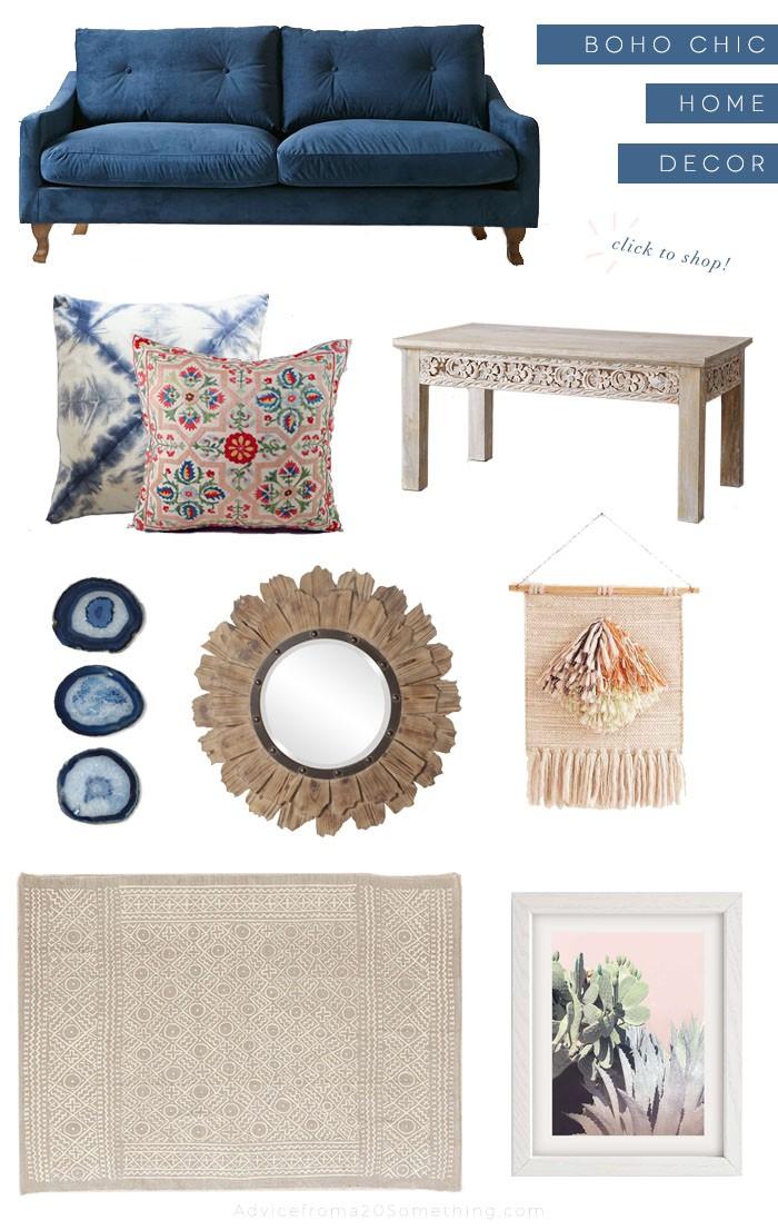 Designing my living room with boho chic decor - Bedroom ideas for twenty somethings ...