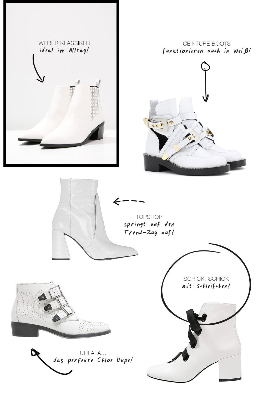 Boots Liv | Lack Stiefelette Mit Weiße Naht | Guts & Gusto