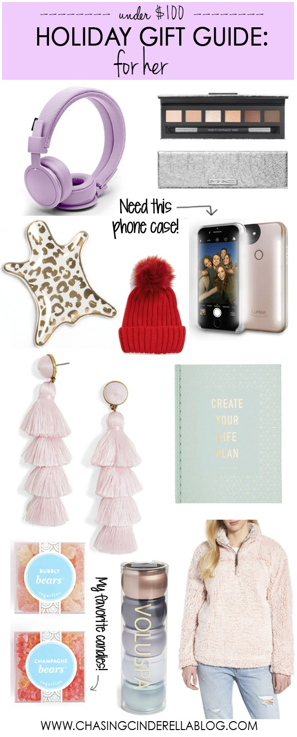 Holiday Gift Guide For Her: Under $100 | Chasing Cinderella