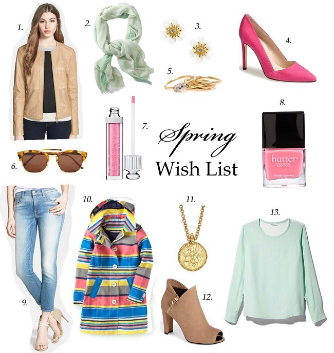 lulus love list, spring pastels, peep toe booties, spring rain jacket, light wash jeans