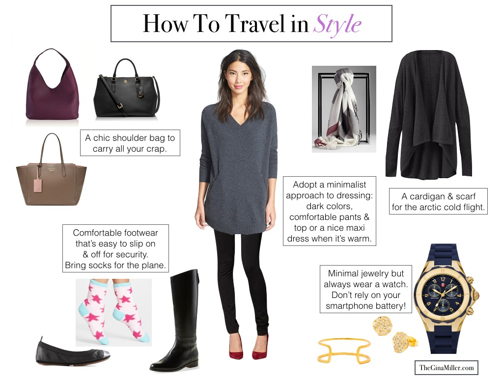 How to travel without looking like a slob, how to travel in style