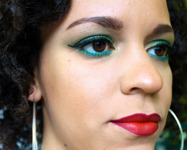 FOTD | St Patricks Day Dark Green Make Up Look