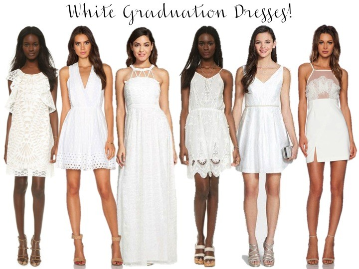 White Graduation Dresses I Believe In Pink