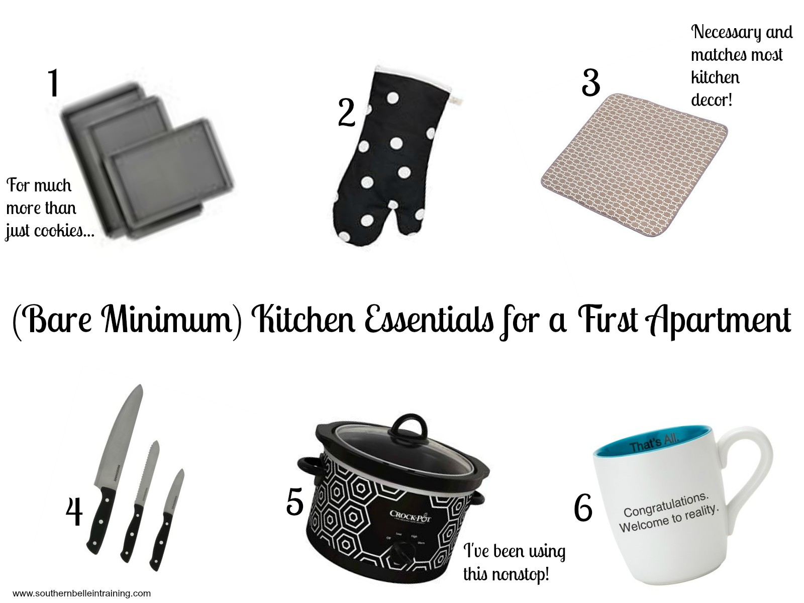 Southern Belle in Training Bare Minimum Kitchen Essentials for