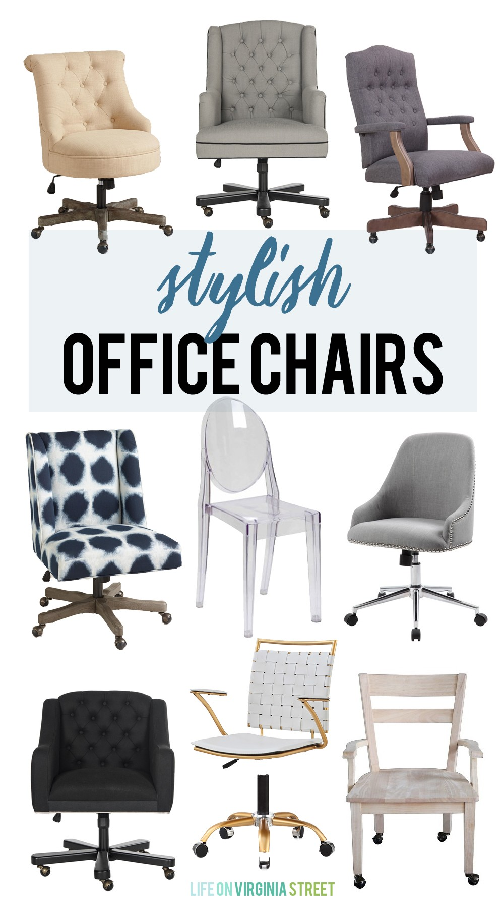 stylish office chairs - life on virginia street