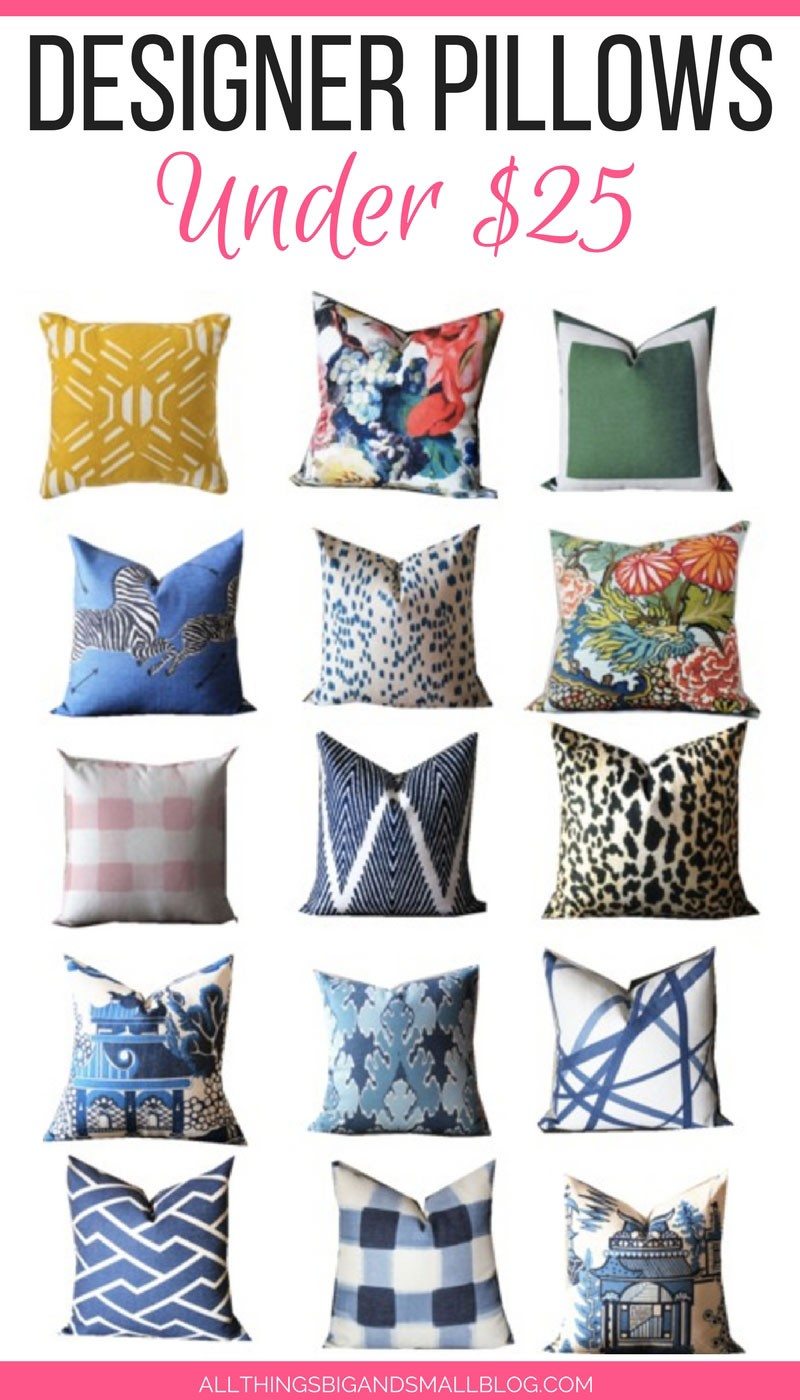 Designer Throw Pillows affordable throw pillows: designer accent pillows for under 25!