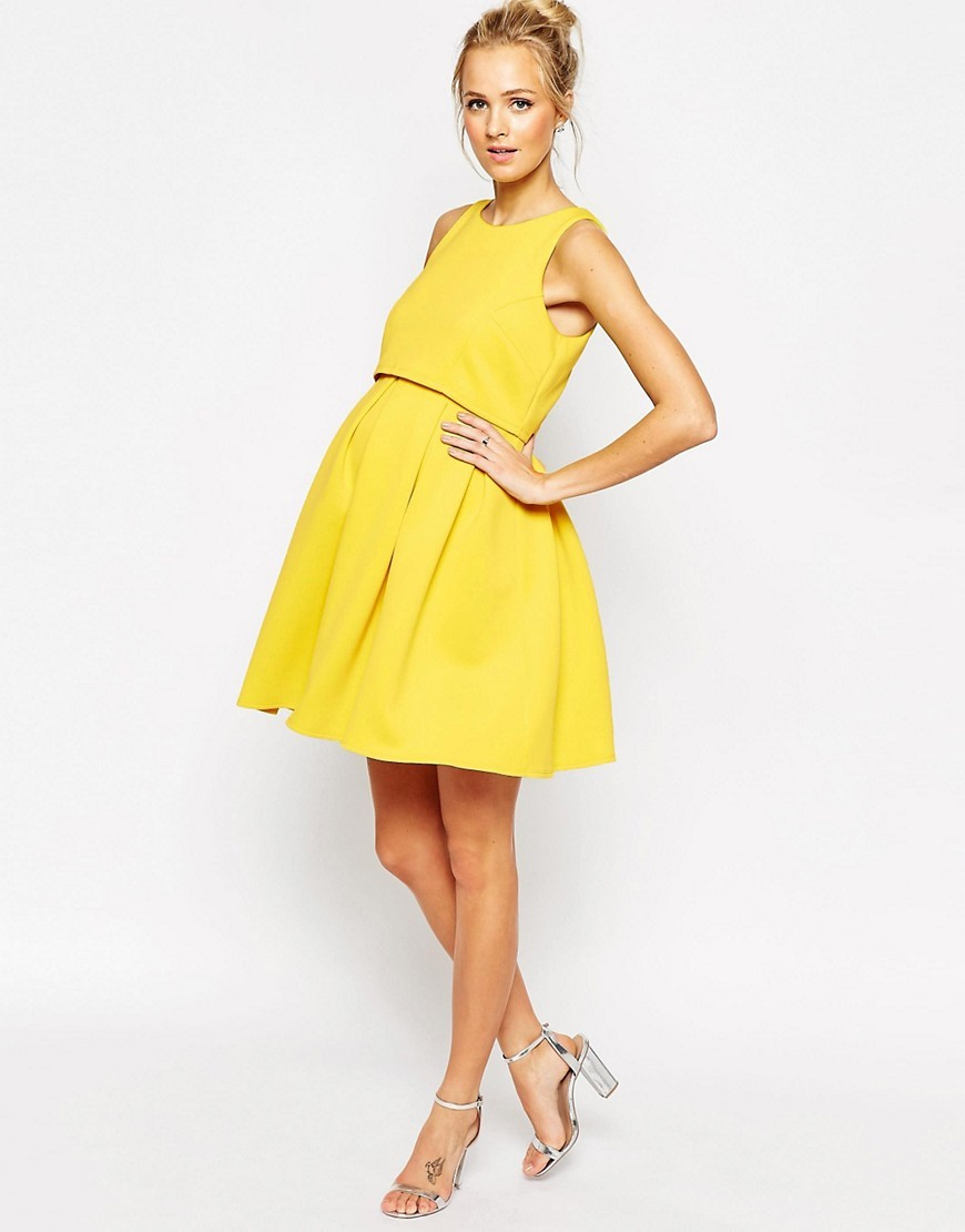 YELLOW MATERNITY DRESS - Mansene Ferele