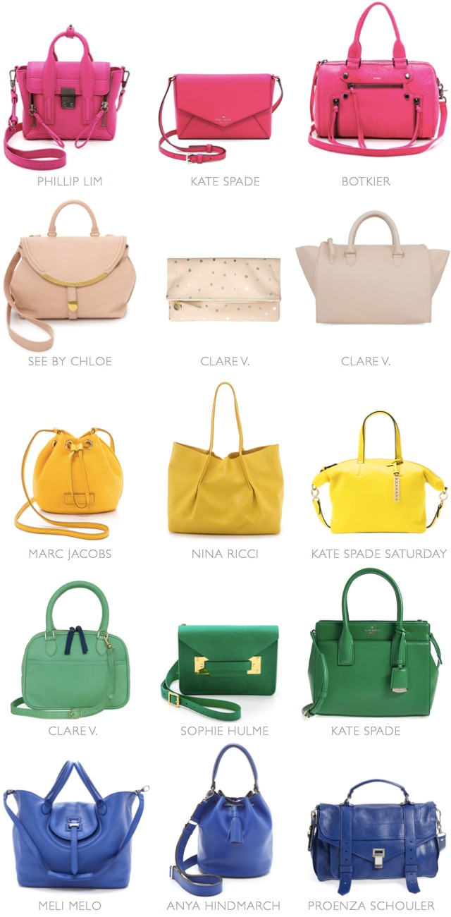 southern arrondissement color code spring bags