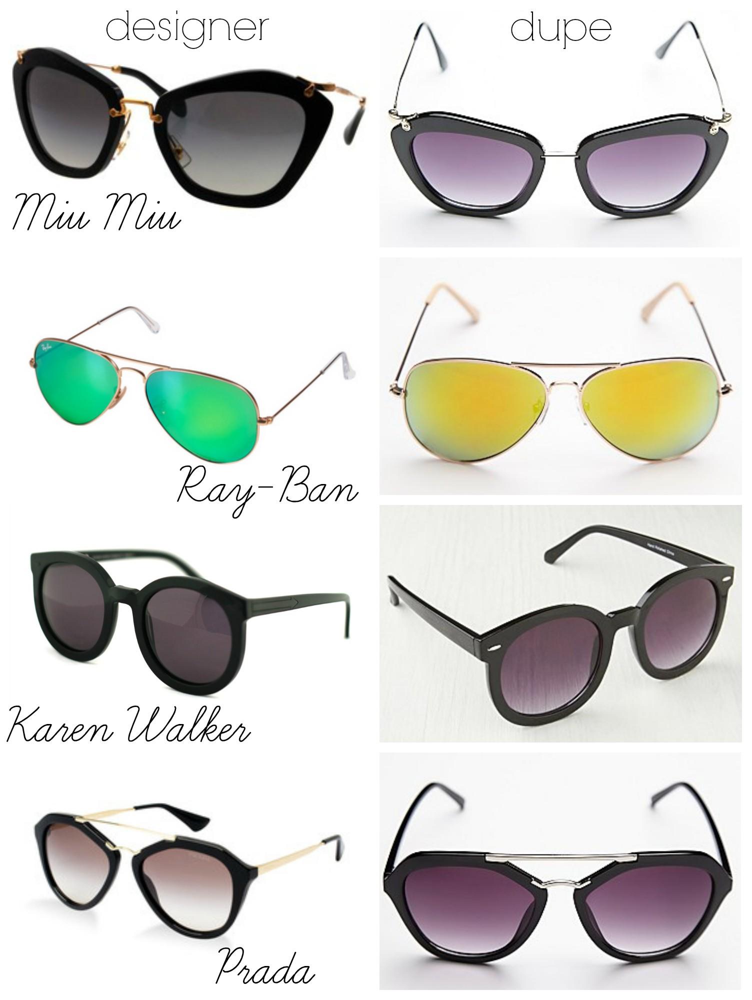 prada handbag bag - Belle de Couture: The Look For Less: Dupes For Designer Sunglasses