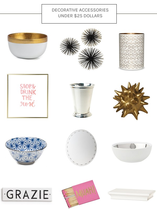 you can shop each decorative accent below by clicking on the black and white sign next to each product happy friday loves xo lauren - Decorative Accents
