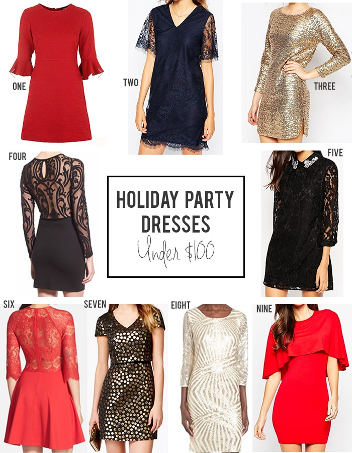 6125838a2 Friday Favorites || Holiday Party Dresses Under $100