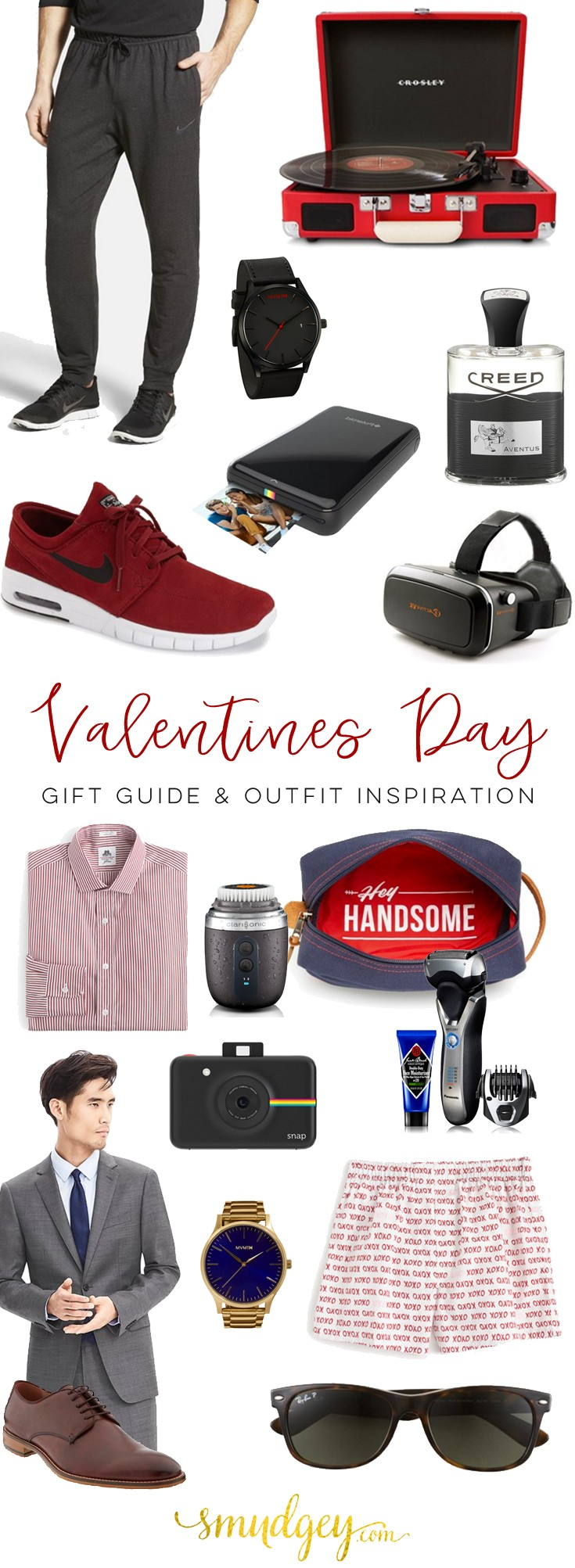 Valentine\'s Day Gift Guide for Him - 2016 - Smudgey
