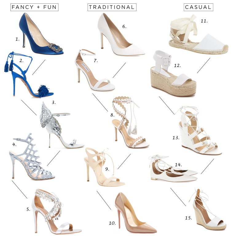 Wedding Wednesday What Type Of Shoes To Wear For Your