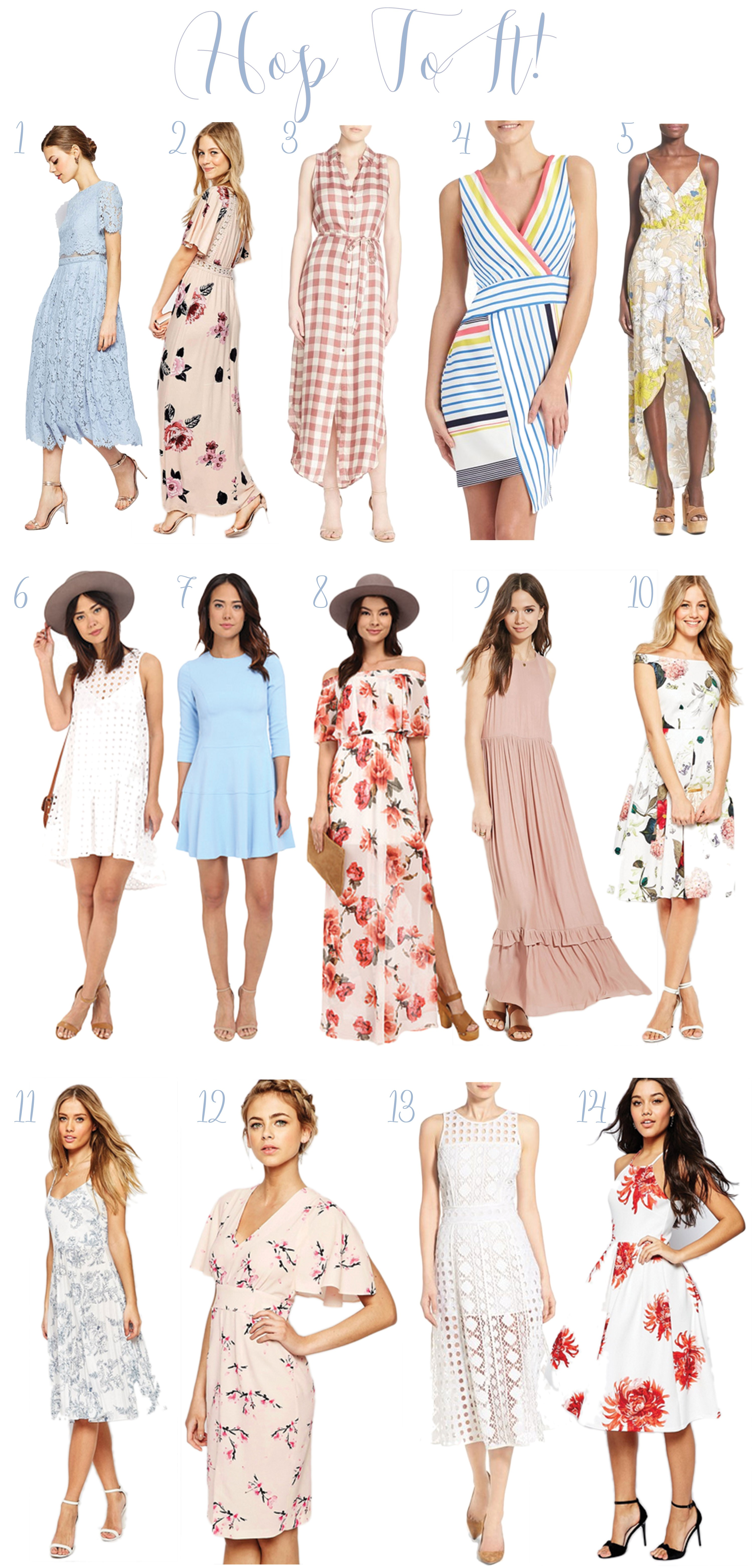 d61c7d5d9 If you aren't ready for Easter, I've got you covered! Here are 14 of my  favorite dresses, most under $150 (and some with free shipping)! Hop to it  and order ...