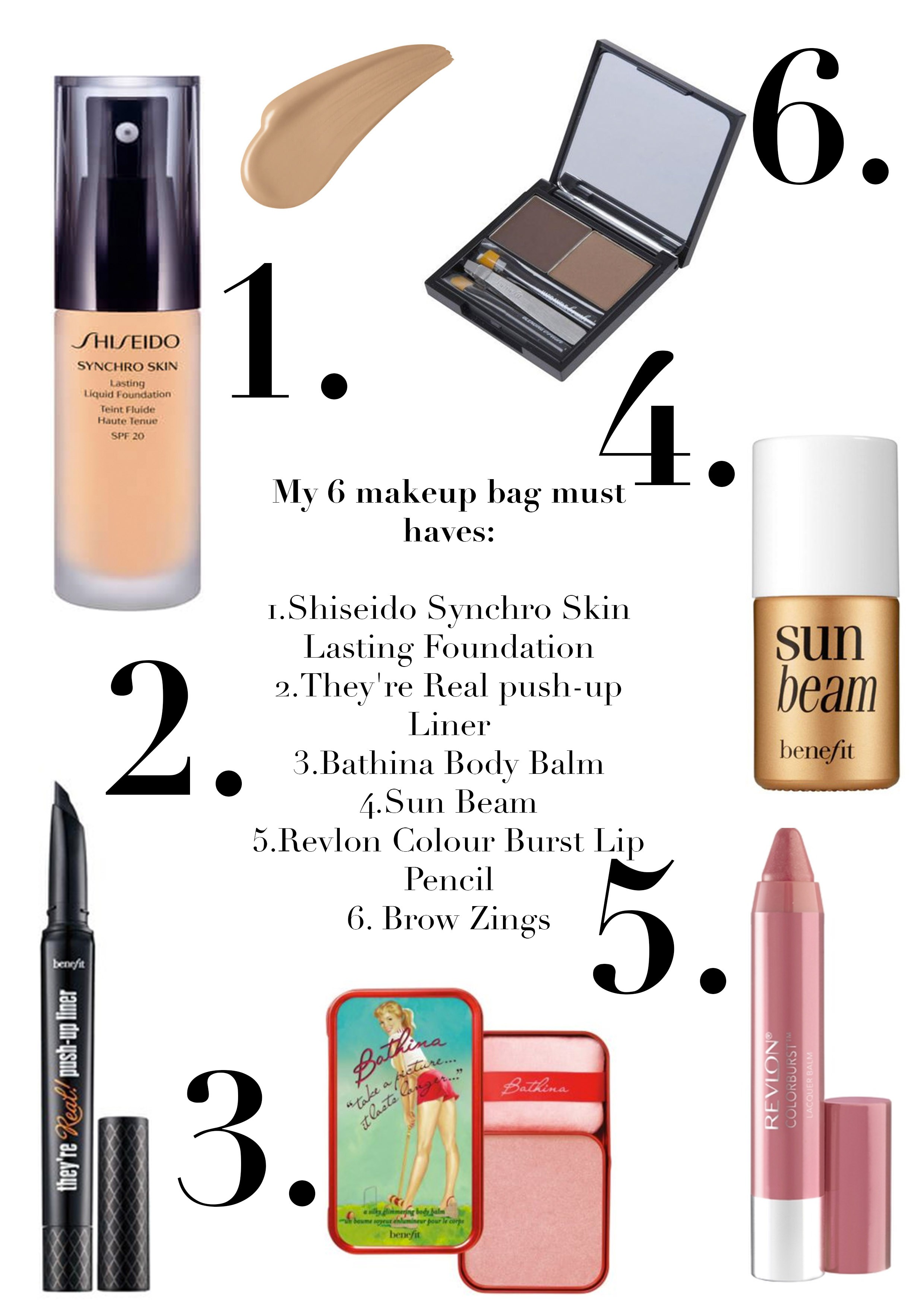 caggies 6 makeup bag must haves - Makeup Must Haves