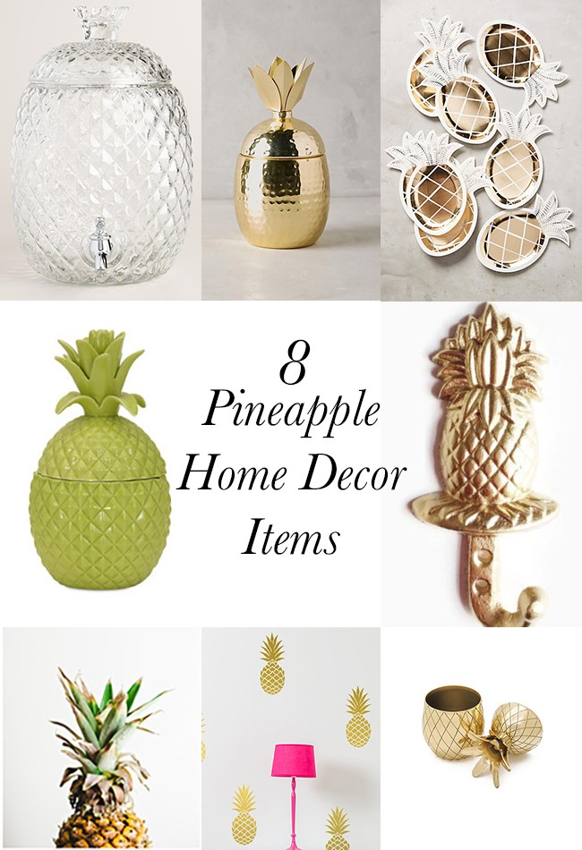 The History Of Pineapples 8 Pineapple Home Decor Items