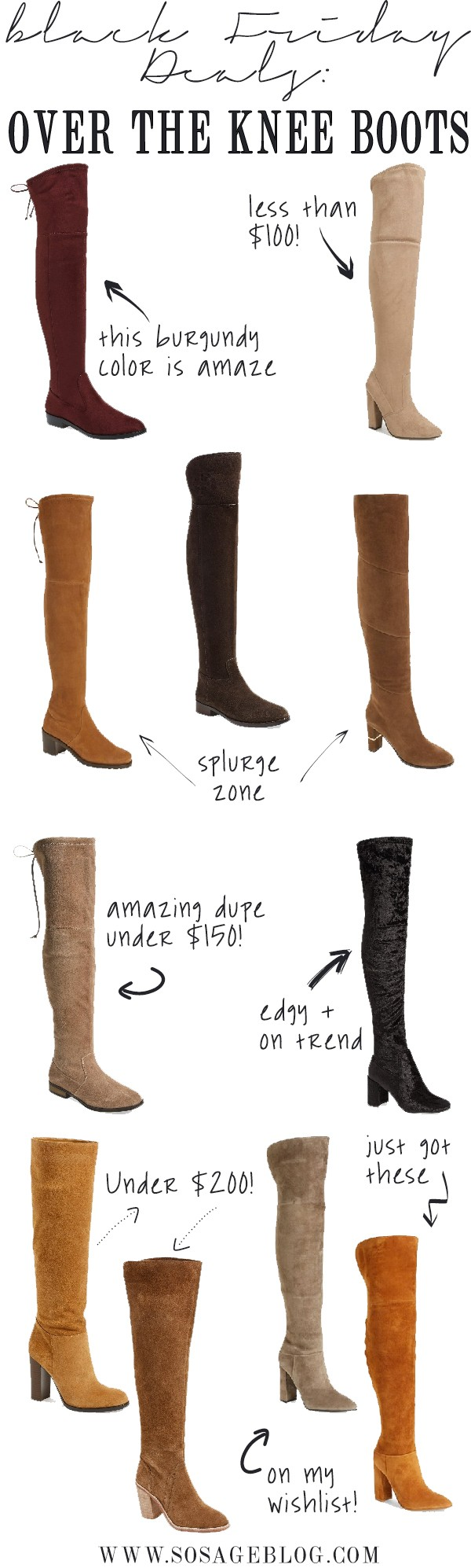 13e655e9797 Early Black Friday Sales: Save HUGE on Over the Knee Boots!
