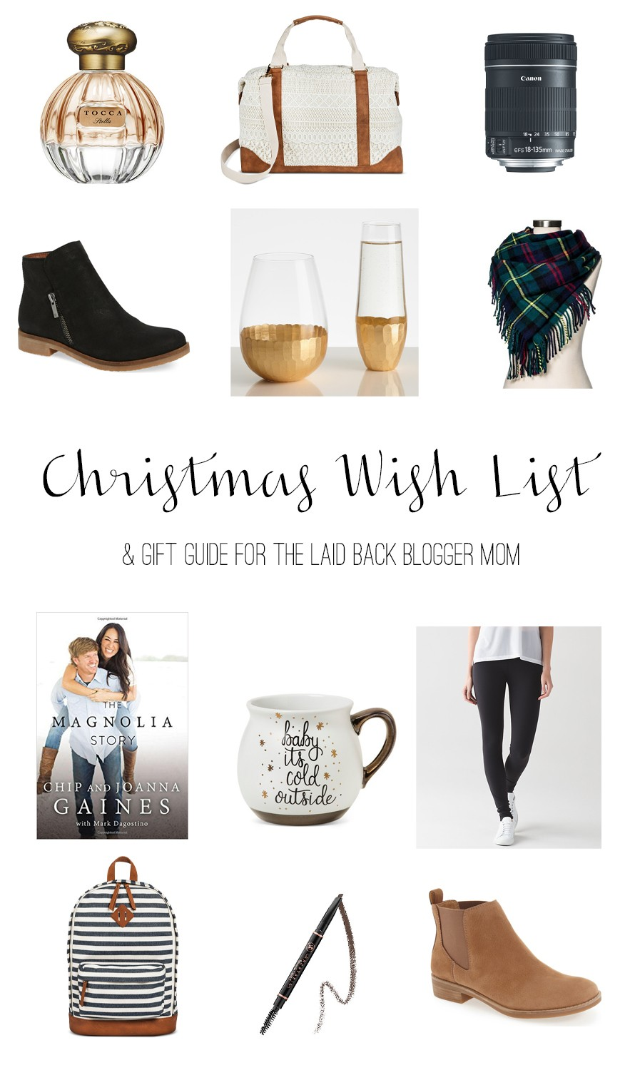Christmas Wish List & Gift Guide for the Laid Back Blogger Mom ...