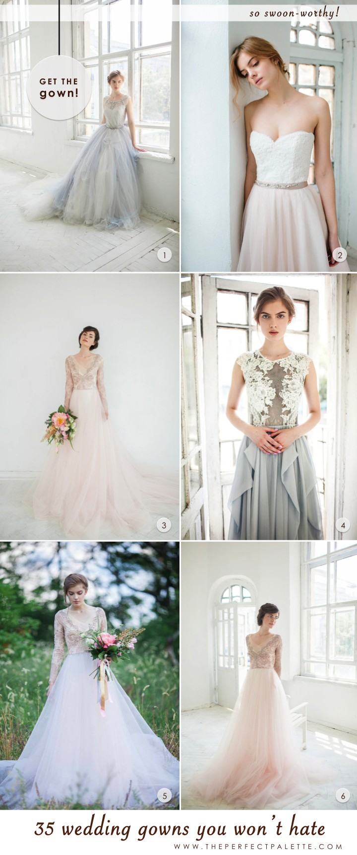 35 Wedding Gowns You Won\'t Hate! | The Perfect Palette