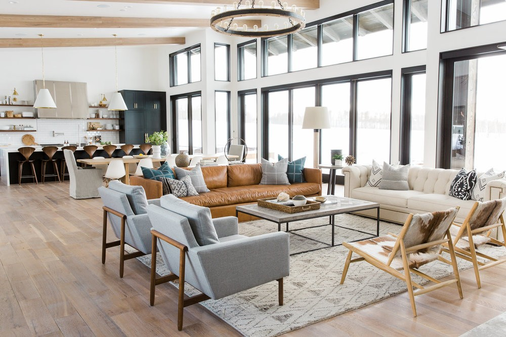 mountain home interior design. Modern Mountain Home  Living Room Tour Rustic Decorating