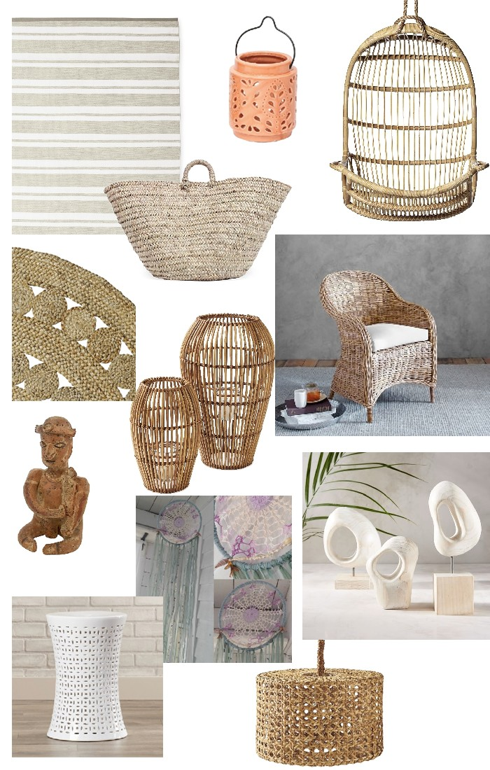 Woven Rattan Light Fixtures Wicker Furniture And A Few Eclectic Pieces To Lend That Frankie Esque Twist Click On The Plus Signs