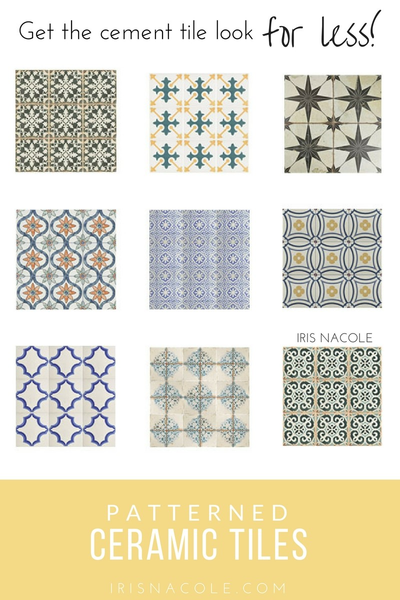 Look for Less: Patterned Ceramic Tiles | Iris Nacole