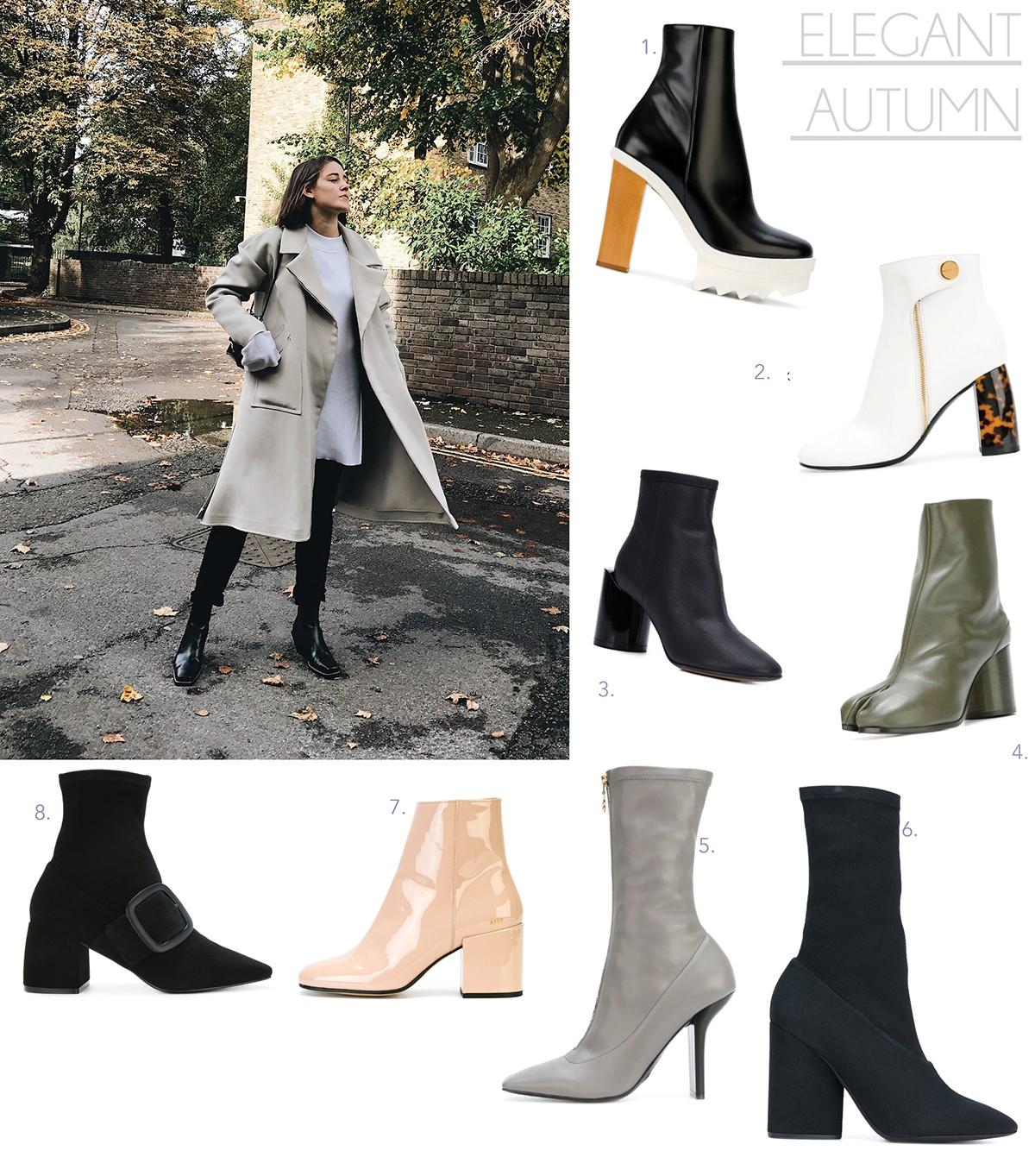 f6a714a74d9 Stella McCartney white tortoise boots 3. Maison Margiela extended ankle  boots 4. Maison Margiela khaki tabi boots 5. Stella McCartney grey sock  pumps 6.