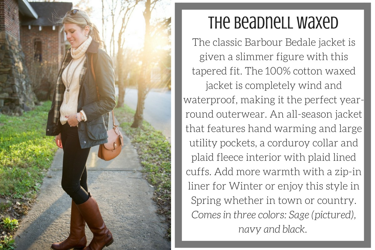 bd37f0dc62fee Classic Barbour Beadnell Waxed Jacket in Sage