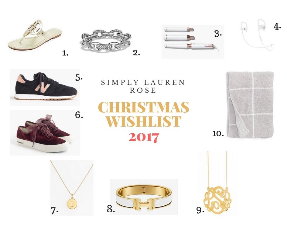 my christmas wishlist 2017