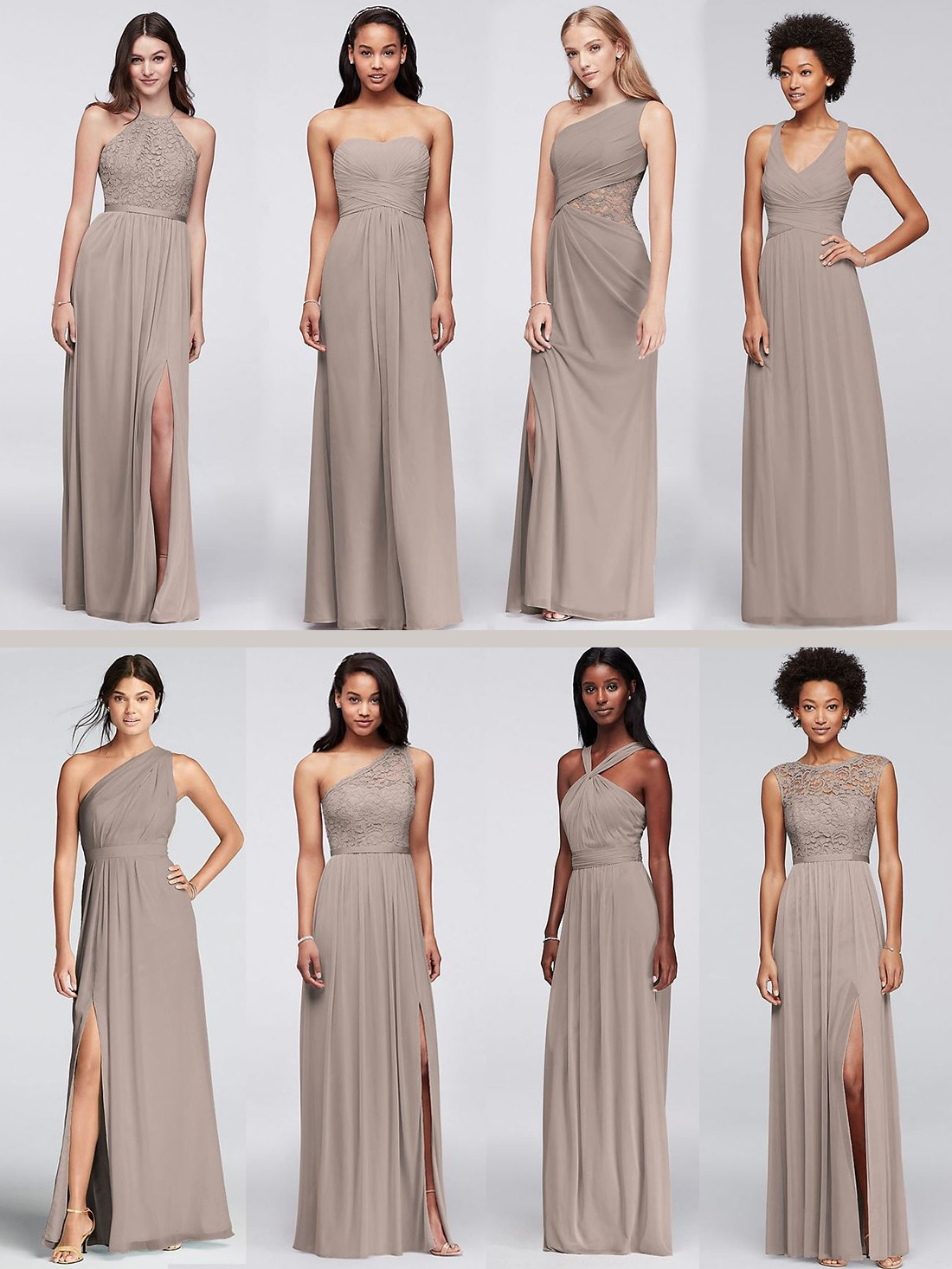 Davids bridal mix and match bridesmaids dresses bride guide davids bridal mix and match bridesmaids dresses option 2 different styles same color ombrellifo Gallery
