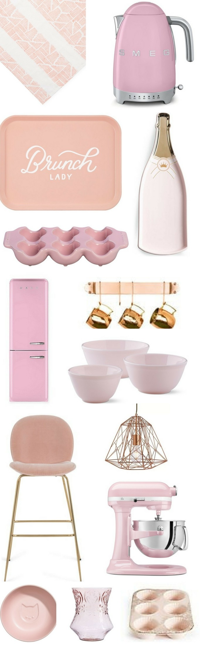 Cute Pink Kitchen Accessories and Decor • Chandeliers and Champagne