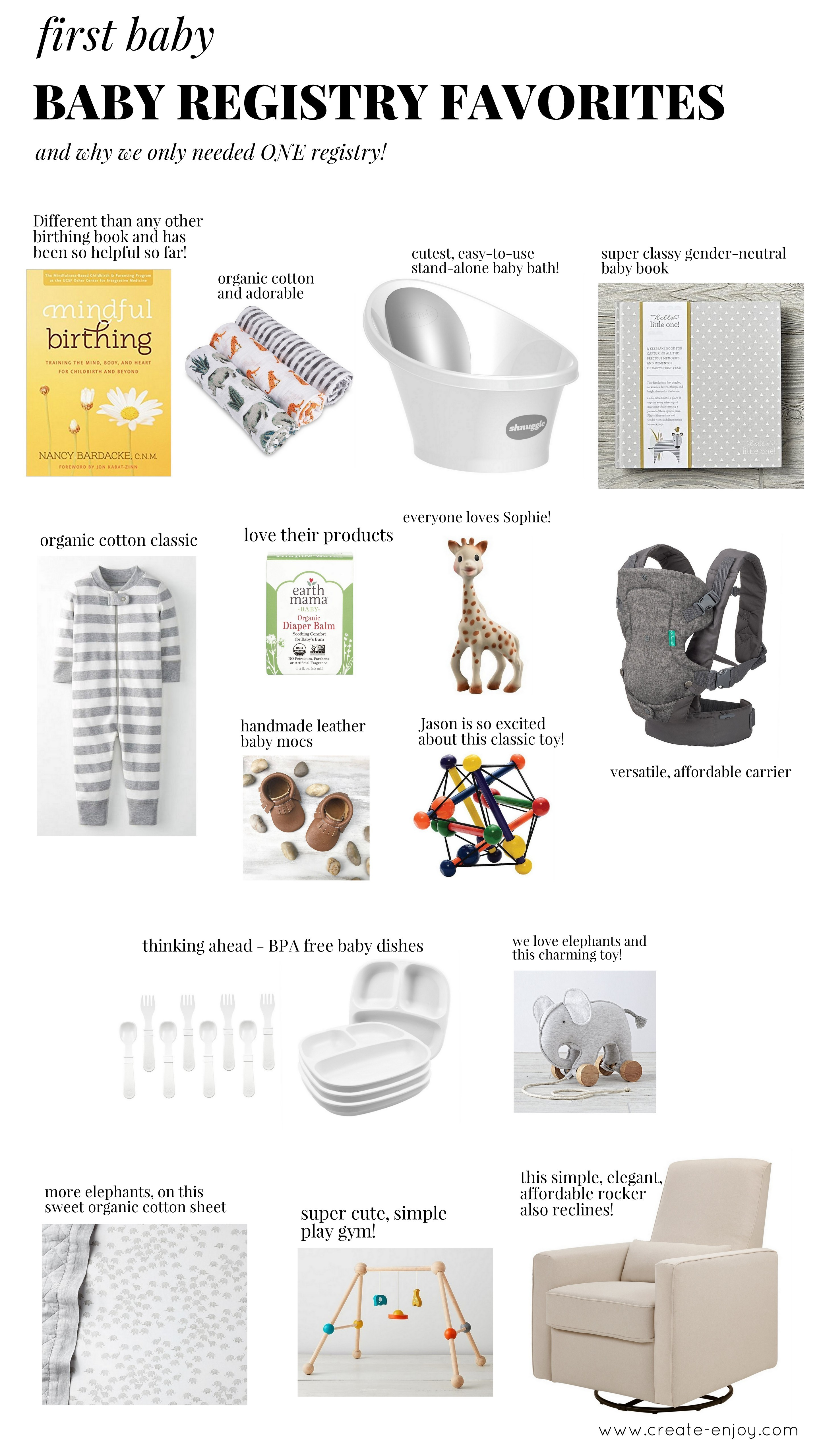 Why This First Time Mom Only Needed One Baby Registry My Fave