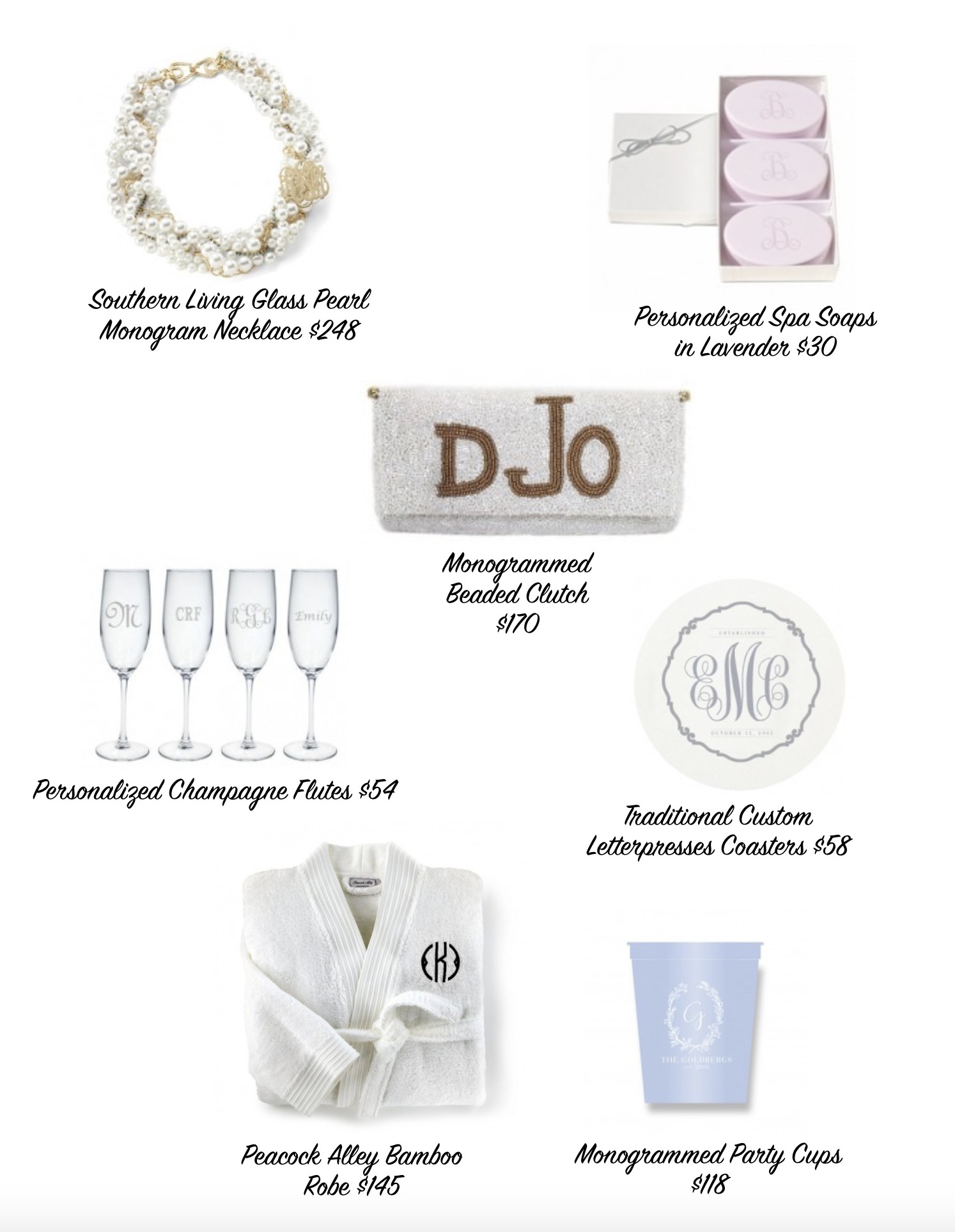 Monogrammed Items For The Bride The Well Appointed House Blog