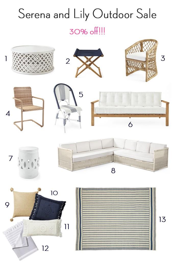 1 Basketweave Coffee Table 2 Teak Camp Stool 3 Rattan Chair 4 Riviera Side 5 Catalina Dining 6 Sofa 7 Ceramic