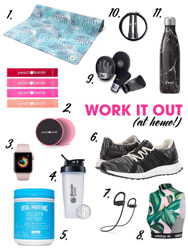 fe77e31c0864be Today, I am sharing a peek into my at-home workout bag. It has all of the  essentials to help you have a killer workout at home, on vacation, on a  work trip ...