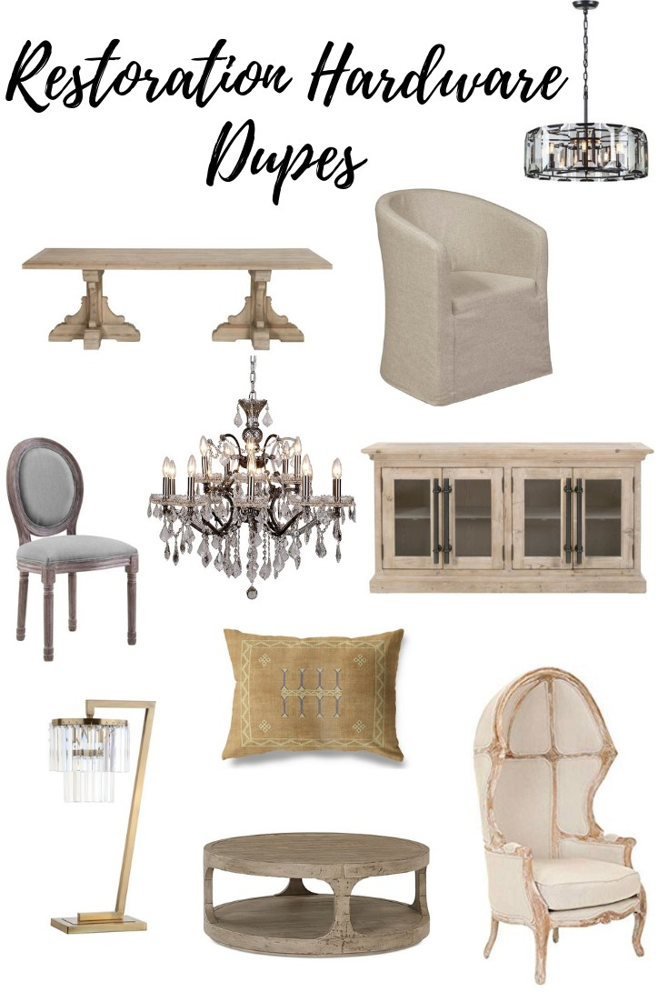 Restoration Hardware Look Alike Items For Less