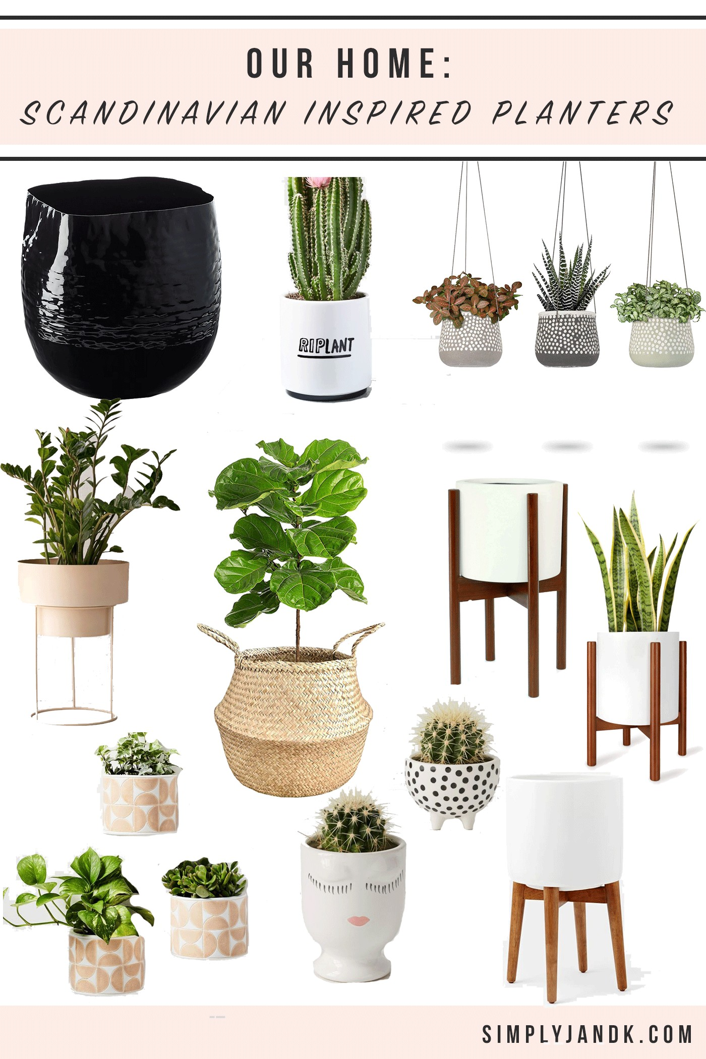 11 Scandinavian Planters For Houseplants Simply J K
