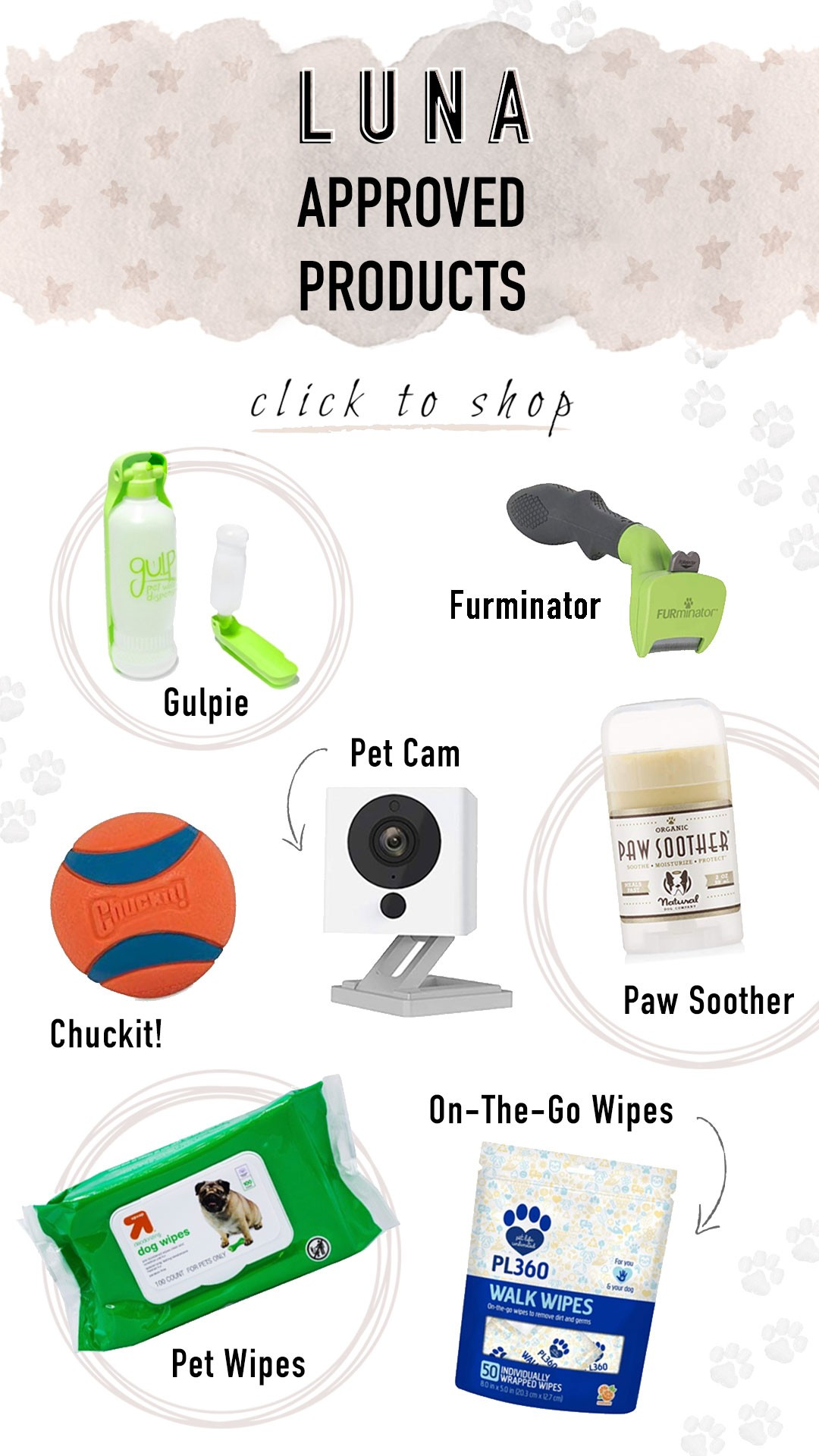 Luna-Approved Pet products