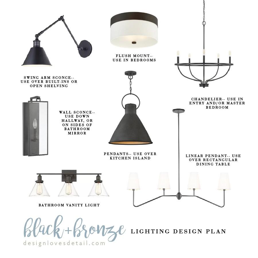 Affordable Lighting Plan: Black/Bronze