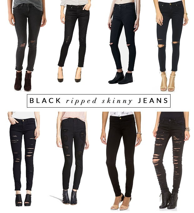 Black ripped skinny jeans the view from 5 ft 2 solutioingenieria Gallery