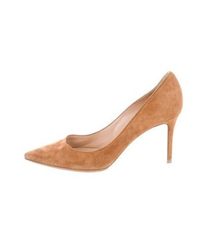 b54d123ed Paul Andrew Taupe Suede 'Pump-It-Up' Heels - Meghan's Mirror