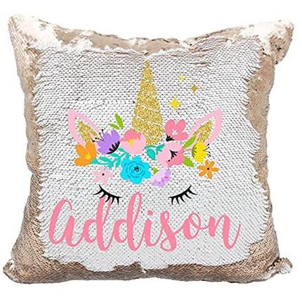 Custom unicorn pillow for gift