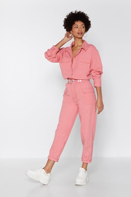 afc1a5fae32 That Millennial Pink Glossier Boilersuit