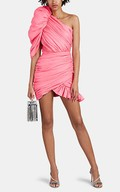 620090f383d Chrissy Teigen in bright pink one shoulder mini dress at Pepsi event in NYC  on May 20 ~ I want her style - What celebrities wore and where to buy it.