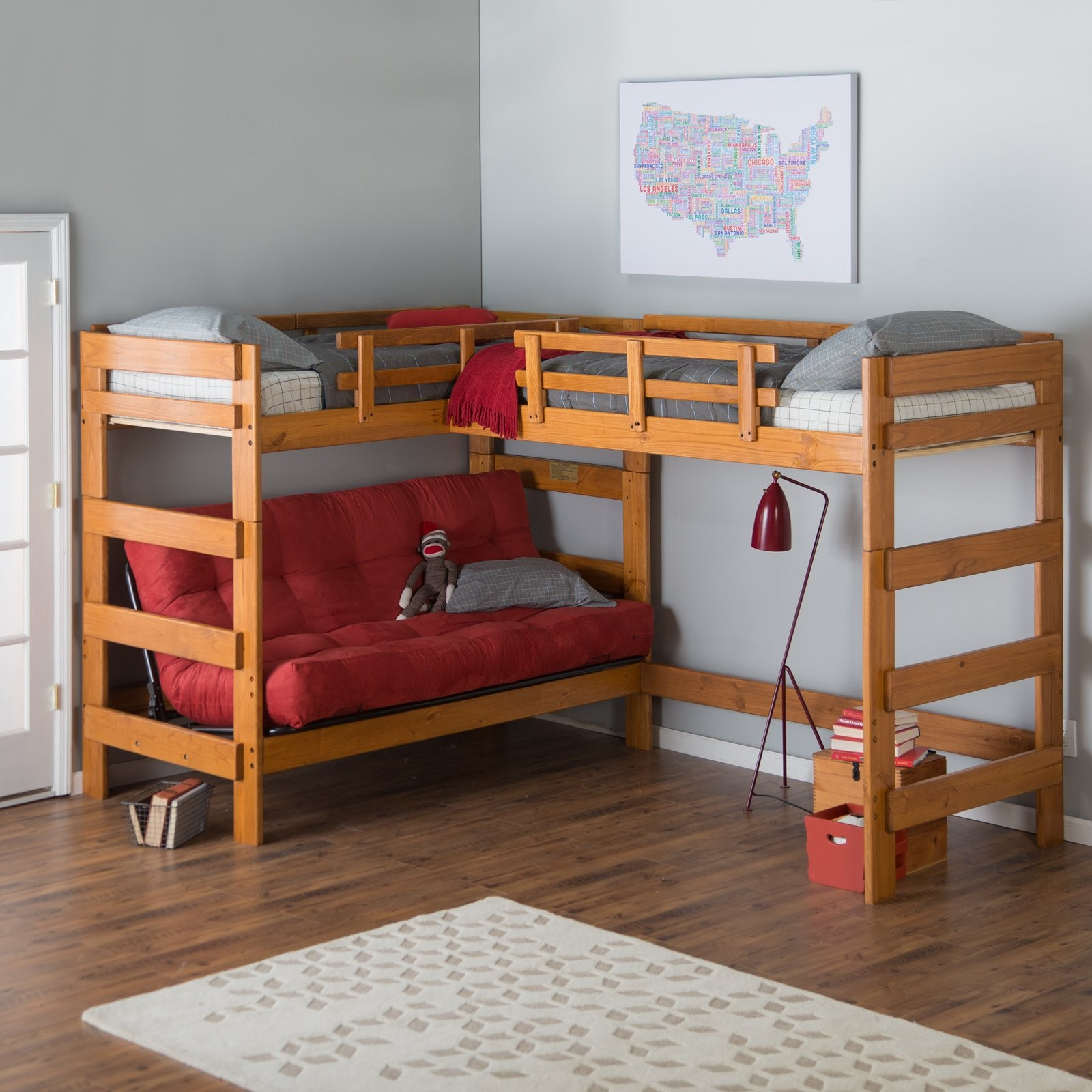 Bunk beds with slide and rope - Bunk Beds With Slide And Rope 43