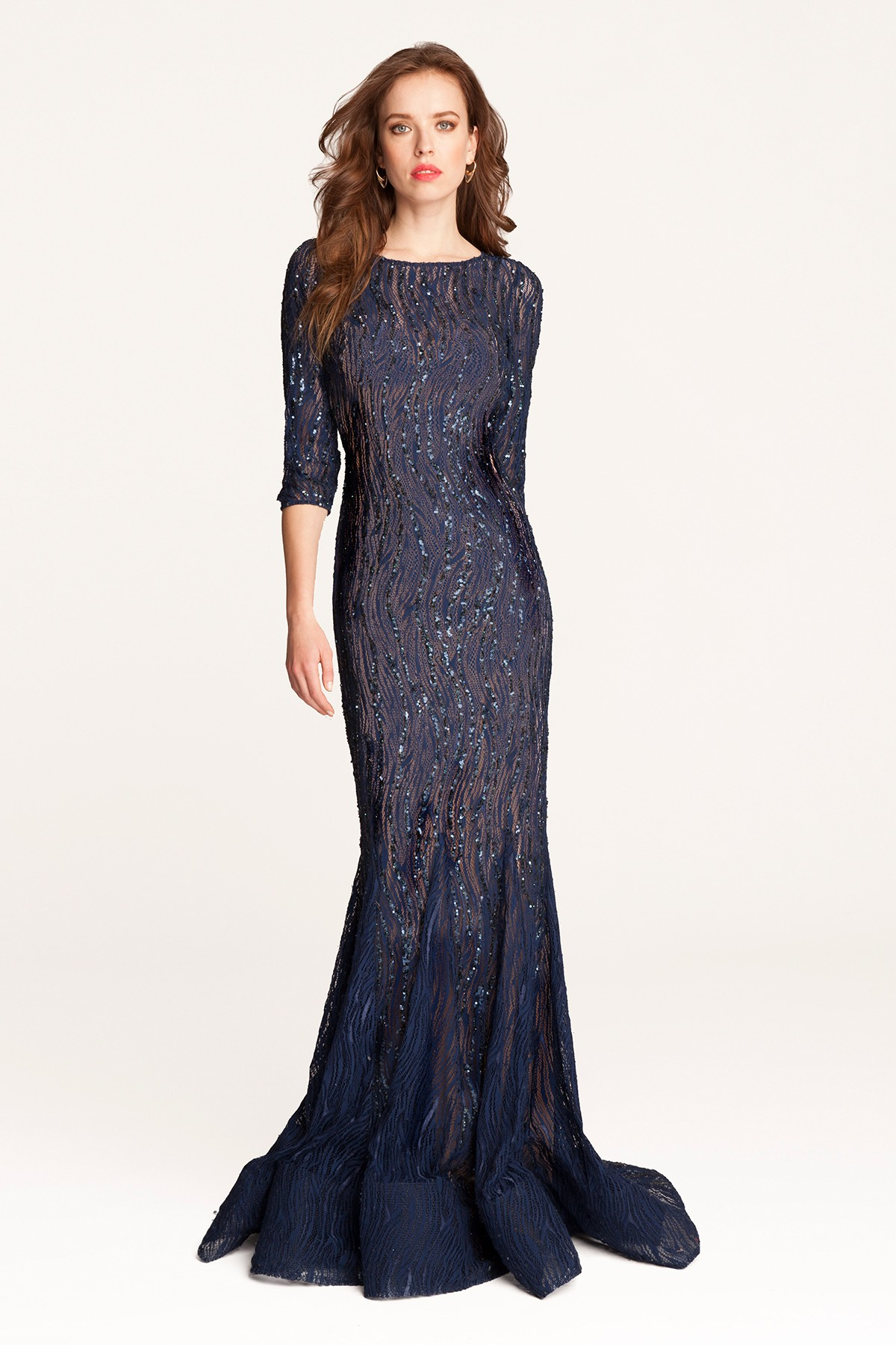 navy blue lace dress lord and taylor dress blog edin