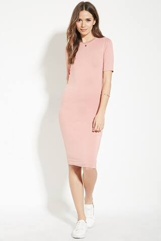 7d991e6d23 Dusty Pink T-Shirt Dress a Casual Spring Outfit - Zoe With Love