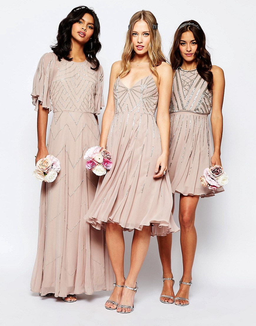 Wedding trends beaded bridesmaid dresses belle the magazine asos ombrellifo Choice Image