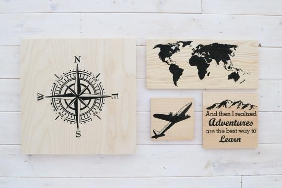 Travel Home Decor 31 cool travel themed home dcor ideas to rock Etsy Us
